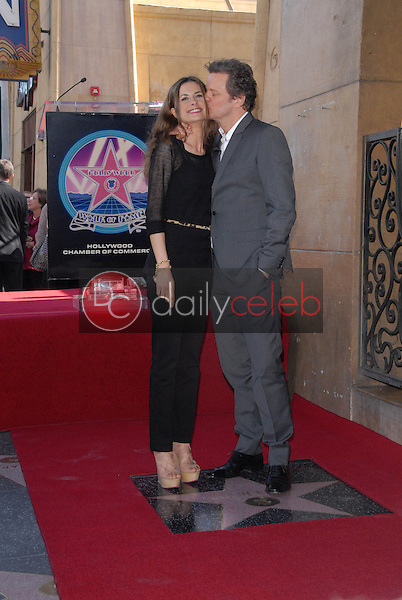 Colin Firth and wife Livia Giuggioli<br /> at the indiction ceremony for Colin Firth into the Hollywood Walk of Fame, Hollywood, CA. 01-13-11<br /> David Edwards/DailyCeleb.com 818-249-4998