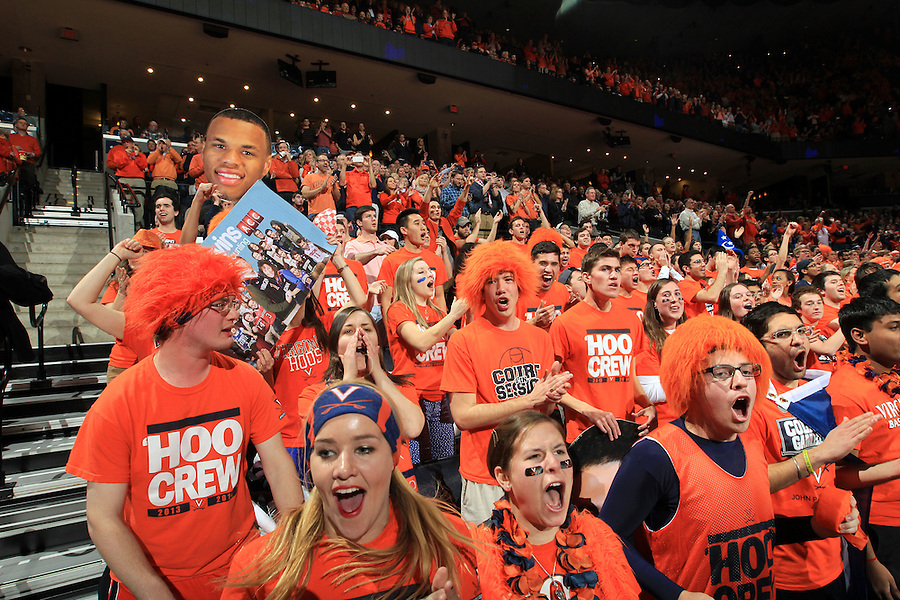 Virginia fans during an ACC basketball game Jan. 31, 2015 in Charlottesville, VA. Duke won 69-63.