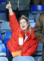 Blackpool fans enjoy the atmosphere inside Kenilworth Road<br /> <br /> Photographer David Shipman/CameraSport<br /> <br /> The EFL Sky Bet League One - Luton Town v Blackpool - Saturday 6th April 2019 - Kenilworth Road - Luton<br /> <br /> World Copyright © 2019 CameraSport. All rights reserved. 43 Linden Ave. Countesthorpe. Leicester. England. LE8 5PG - Tel: +44 (0) 116 277 4147 - admin@camerasport.com - www.camerasport.com