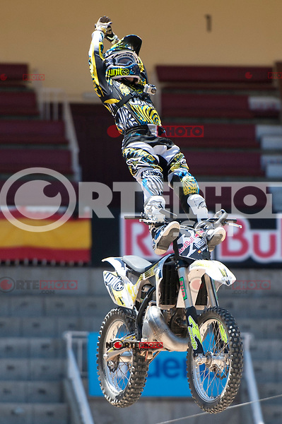 Training Red Bull X-Fighters 2012. Madrid. Rider in the picture Maikel Melero ESP. July 19, 2012. (ALTERPHOTOS/Ricky Blanco) /NortePhoto.com<br />  <br /> **CREDITO*OBLIGATORIO** *No*Venta*A*Terceros*<br /> *No*Sale*So*third* ***No*Se*Permite*Hacer Archivo***No*Sale*So*third*©Imagenes*con derechos*de*autor©todos*reservados*.