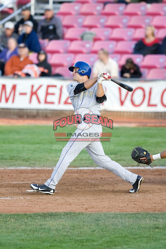 July 7, 2009: Tri-City Dust Devils' Kent Matthes at-bat during a Northwest League game against the Salem-Keizer Volcanoes at Volcanoes Stadium in Salem, Oregon.