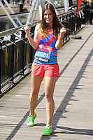 Charlie Webster at the photocall for celebs running the 2014 London Marathon, London. 09/04/2014 Picture by: Steve Vas / Featureflash