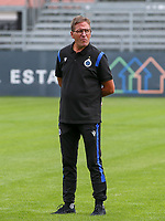 Brugge's team delegee Francky Dryepondt pictured before a female soccer game between Eendracht Aalst and Dames Club Brugge YLA on the first matchday of the 2020 - 2021 season of Belgian Women's SuperLeague , friday 28 of August 2020  in Aalst , Belgium . PHOTO SPORTPIX.BE | SPP | SEVIL OKTEM