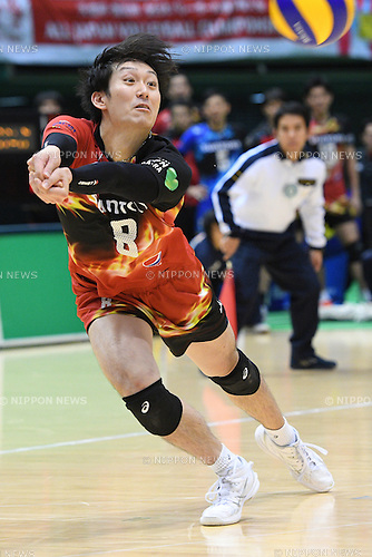 Masahiro Yanagida (), <br /> DECEMBER 18, 2016 - Volleyball : <br /> All Japan Men's Volleyball Championships <br /> Quarter-final match <br /> between Suntory Sunbirds 3-0 Panasonic Panthers<br /> at Tokyo Metropolitan Gymnasium, Tokyo, Japan. <br /> (Photo by AFLO SPORT)