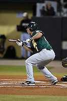 Siena Saints infielder Justin Esquerra (12) squares to bunt during the opening game of the season against the UCF Knights on February 13, 2015 at Jay Bergman Field in Orlando, Florida.  UCF defeated Siena 4-1.  (Mike Janes/Four Seam Images)