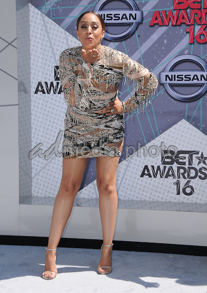 26 June 2016 - Los Angeles. Tia Mowry-Hardrict. Arrivals for the 2016 BET Awards held at the Microsoft Theater. Photo Credit: Birdie Thompson/AdMedia