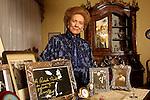 Milano 29/01/2002.Renata Tebaldi nella sua casa. Renata Tebaldi in her home
