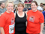 Ailish Dyas, Rita Collier and Maeveen Carroll from Ladybird Lane Childcare who ran in the Clogherhead 10k. Photo: Colin Bell/pressphotos.ie