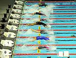 19.08.2014, Velodrom, Berlin, GER, Berlin, Schwimm-EM 2014, im Bild 200m Backstroke - Women, Bahn 2 - Lisa Graf (GER), Start<br /> <br />               <br /> Foto © nordphoto /  Engler