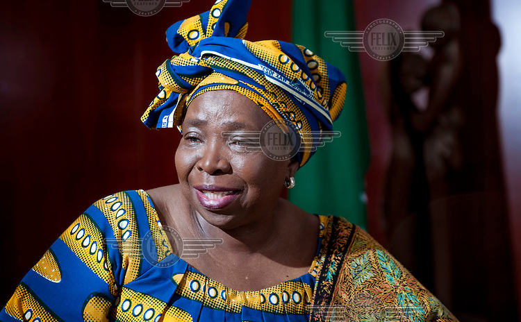 African Union chair person Nkosazana Dlamini-Zuma from South Africa in her office at the African Unioin in Addis Ababa. She was elected to the chair person's post in July 2012 and took office in October 2012. She is the former wife of South African president Jacob Zuma.