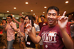 "International students dance at a fall semester ""Welcome Back"" party held for International students attending Texas A&M in College Station, Texas."