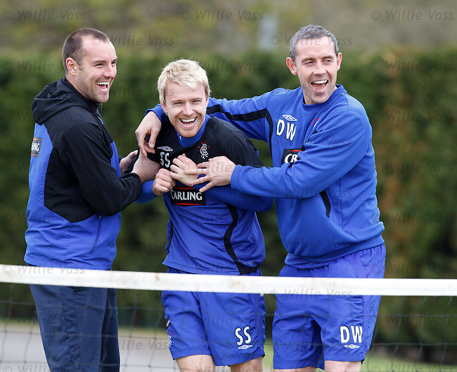 Kris Boyd, Stevie Smith and David Weir all playing for laughs at their final training session