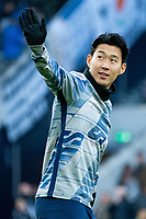 Tottenham Hotspur's Son Heung-Min during the pre-match warm-up <br /> <br /> <br /> Photographer Stephanie Meek/CameraSport<br /> <br /> The Premier League - Tottenham Hotspur v Bournemouth - Saturday 30th November 2019 - Tottenham Hotspur Stadium - London<br /> <br /> World Copyright © 2019 CameraSport. All rights reserved. 43 Linden Ave. Countesthorpe. Leicester. England. LE8 5PG - Tel: +44 (0) 116 277 4147 - admin@camerasport.com - www.camerasport.com