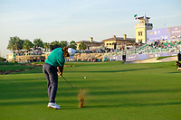 Tommy Fleetwood (ENG) on the 18th fairway during the 1st round of the DP World Tour Championship, Jumeirah Golf Estates, Dubai, United Arab Emirates. 15/11/2018<br /> Picture: Golffile | Fran Caffrey<br /> <br /> <br /> All photo usage must carry mandatory copyright credit (© Golffile | Fran Caffrey)