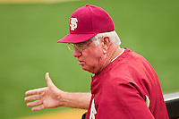 Florida State Seminoles head coach Mike Martin during the game against the Wake Forest Demon Deacons at Wake Forest Baseball Park on March 24, 2012 in Winston-Salem, North Carolina.  The Seminoles defeated the Demon Deacons 3-2.  (Brian Westerholt/Four Seam Images)
