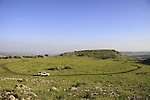Israel, Lower Galilee, the top of Horns of Hattin