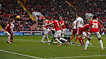 Billy Sharp of Sheffield Utd (hidden) scores the winning goal - English League One - Sheffield Utd vs Coventry City - Bramall Lane Stadium - Sheffield - England - 13th December 2015 - Pic Simon Bellis/Sportimage-