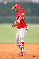 April 14, 2009:  Shortstop Guillermo Toribio of the St. Louis Cardinals extended spring training team during a game at Roger Dean Stadium Training Complex in Jupiter, FL.  Photo by:  Mike Janes/Four Seam Images