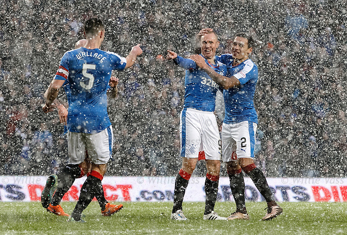 Kenny Miller takes the acclaim after scoring