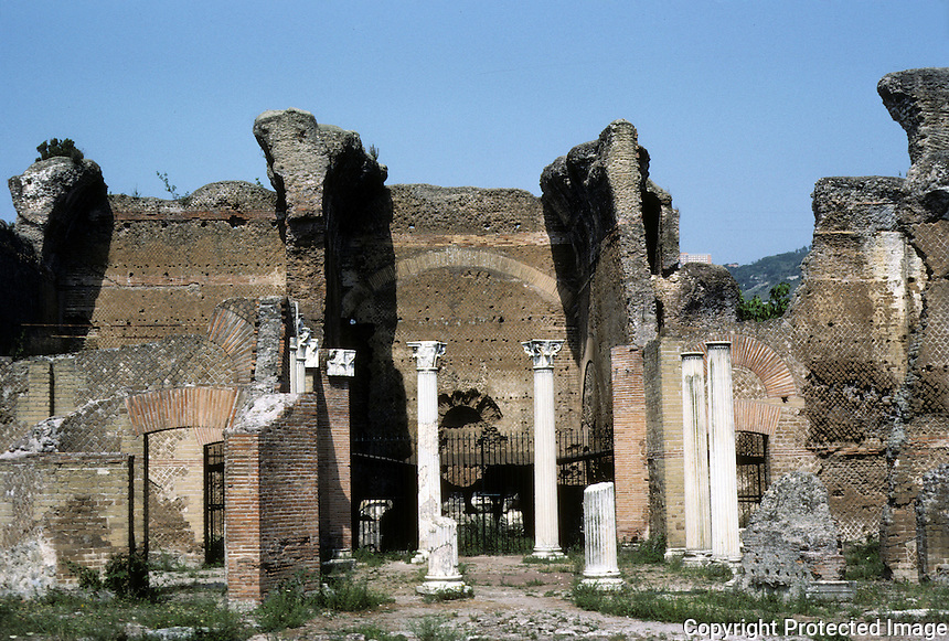 Italy: Tivoli--Hadrian's Villa. Larger view of Piazza D'Oro. Takes its name from the lavish ornament and the wealth of works of art found here. Photo '83.