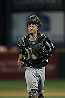 Kevin Torres (26) of the High Desert Mavericks in the field during a game against the Rancho Cucamonga Quakes at LoanMart Field on August 18, 2015 in Rancho Cucamonga, California. High Desert defeated Rancho Cucamonga, 4-0. (Larry Goren/Four Seam Images)