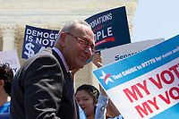 United States Senate Minority Leader Chuck Schumer (Democrat of New York) departs a press conference outside of the Supreme Court in Washington D.C., U.S. on July 30, 2019. Credit: Stefani Reynolds / CNP/AdMedia