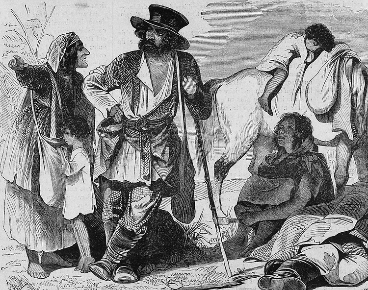 Russian nomads. Engraving. 19th century.