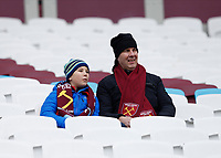 29th February 2020; London Stadium, London, England; English Premier League Football, West Ham United versus Southampton; West Ham United fans in the stands before kick off
