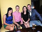 Shauna Reynolds, Darren Gaffney, Rachel McDonnell and David Johnston enjoying the new year celebrations at Brú. Photo: Colin Bell/pressphotos.ie