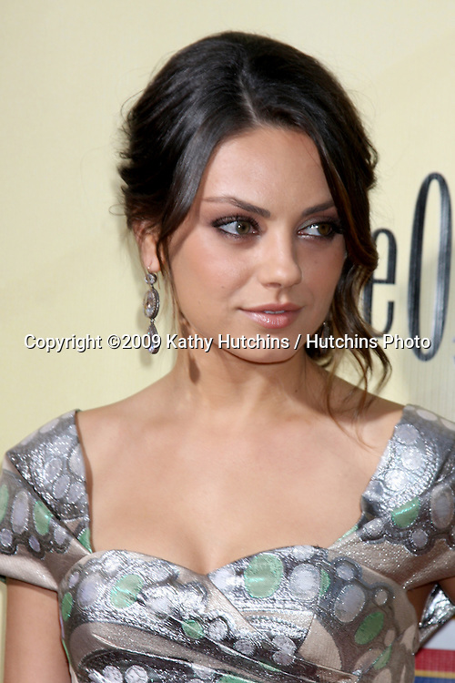 Mila Kunis arriving at  the Extract Premiere at the ArcLight Theater in  Los Angeles, CA on August 24, 2009.©2009 Kathy Hutchins / Hutchins Photo.