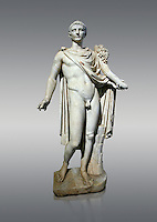 Roman marble sculpture of a male figure restored as Augustus 2nd century AD, inv no 6053,Naples Museum of Archaeology, Italy