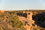 Utah, Hovenweep National Monument, Square Tower group, Ancient Pueblo or Anasazi people, archeology, sunrise, U.S.A., Southwest America, .