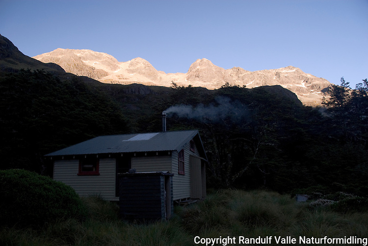 Blue Lake Hut, Nelson Lakes, New Zealand.