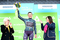 Picture by SWpix.com - 03/05/2018 - Cycling - 2018 Asda Women's Tour de Yorkshire - Stage 1: Beverley to Doncaster - Anna Christian of Trek Drops celebrates the most aggressive rider jersey