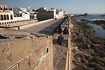 Ramparts on town walls, Essaouira, Morocco