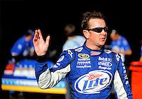 Oct. 9, 2009; Fontana, CA, USA; NASCAR Sprint Cup Series driver Kurt Busch during qualifying for the Pepsi 500 at Auto Club Speedway. Mandatory Credit: Mark J. Rebilas-