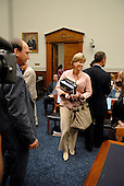 Washington, D.C. - June 25, 2007 -- Former Environmental Protection Agency (EPA) Administrator Christine Todd Whitman arrives to testify before the United States House Constitution, Civil Rights, and Civil Liberties Subcommittee hearing on post 9/11 air quality in New York and the area surrounding the Twin Towers in Manhattan in Washington, D.C. on Monday, June 25, 2007.<br /> Credit: Ron Sachs / CNP<br /> (RESTRICTION: No New York or New Jersey newspapers or Newspapers within a 75 mile radius of New York City)