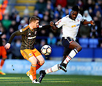 John Fleck of Sheffield Utd  and Sammy Ameobi of Bolton during the FA Cup Second round match at the Macron Stadium, Bolton. Picture date: December 4th, 2016. Pic Simon Bellis/Sportimage