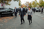 Washington, DC - October 29, 2009 -- United States President Barack Obama walks with Senior Advisor Valerie Jarrett across West Executive Avenue to the West Wing of the White House, following a Small Business and Health Insurance Reform event, October 29, 2009.Mandatory Credit: Pete Souza - White House via CNP
