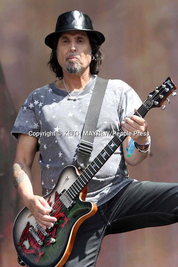 Phil &quot;Wizz&ouml;&quot; Campbell of 'Motorhead' performs live at British Summertime, Hyde Park, London on July 4th 2014 <br /> <br /> Photo by Keith Mayhew