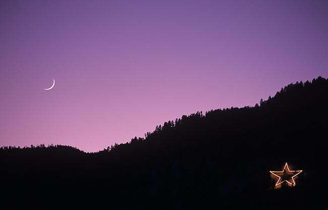 Holiday Star, Crescent Moon, Boulder, Colorado