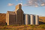 Corrugated grain elevators and tanks, Starbuck, Wash.