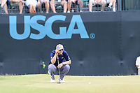 Bernd Wiesberger (AUT) lines up his birdie putt on the 9th green during Saturday's Round 3 of the 117th U.S. Open Championship 2017 held at Erin Hills, Erin, Wisconsin, USA. 17th June 2017.<br /> Picture: Eoin Clarke | Golffile<br /> <br /> <br /> All photos usage must carry mandatory copyright credit (&copy; Golffile | Eoin Clarke)