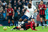 Tottenham Hotspur's Tanguy NDombele Alvaro is tackled by Bournemouth's Diego Rico <br /> <br /> Photographer Stephanie Meek/CameraSport<br /> <br /> The Premier League - Tottenham Hotspur v Bournemouth - Saturday 30th November 2019 - Tottenham Hotspur Stadium - London<br /> <br /> World Copyright © 2019 CameraSport. All rights reserved. 43 Linden Ave. Countesthorpe. Leicester. England. LE8 5PG - Tel: +44 (0) 116 277 4147 - admin@camerasport.com - www.camerasport.com