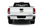 Straight rear view of 2017 Chevrolet Silverado-1500 High-Country-Crew 4 Door Pickup Rear View  stock images