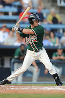 Greensboro Grasshoppers first baseman Mark Canha #31 swings at a pitch during the first game of a double header against the Asheville Tourists at McCormick Field on July 26, 2011 in Asheville, North Carolina. Asheville won the game 12-4.   (Tony Farlow/Four Seam Images)