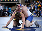 SIOUX FALLS, SD - NOVEMBER 11: Blake Wolters from South Dakota State battles with Brady Daniels from Arizona State during their heavyweight match Sunday afternoon at the Sanford Pentagon in Sioux Falls, SD.  (Photo by Dave Eggen/Inertia)