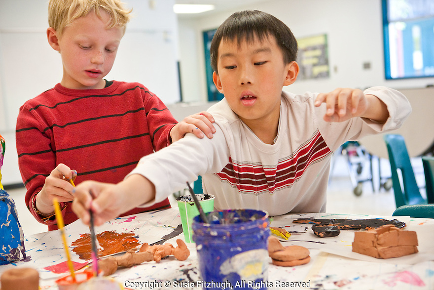 Lana Sundberg's  Visual Arts students at Kimball Elementary School. [Arts Corps, Seattle]