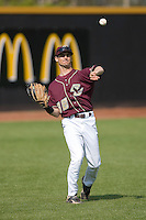 John Spatola #38 of the Boston College Eagles warms up between innings at Wake Forest Baseball Park April 11, 2009 in Winston-Salem, NC. (Photo by Brian Westerholt / Four Seam Images)
