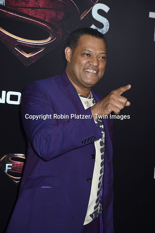 Laurence Fishburne attends the World Premiere of &quot;Man of Steel&quot; on June 10, 2013 at Alice Tully Hall in New York. The movie stars <br /> Henry Cavill, Amy Adams, Michael Shannon, Kevin Costner, Laurence Fishburne, Anje Traue, Ayelet Zurer, Christopher Meloni, Russell Crowe, Dylan Sprayberry, Michael Kelly,  Cooper Timberline, Christina Wren and Rebecca Buller.